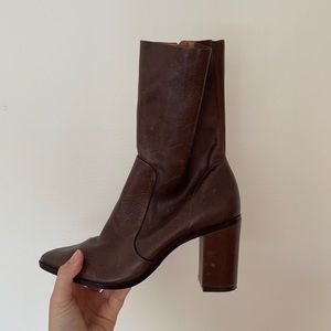 Genuine leather brown Scutz booties